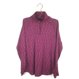 Columbia XL Shirt Purple 1/4 Zip Ruched Long